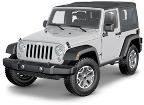 Example of a Jeep rental for Kauai