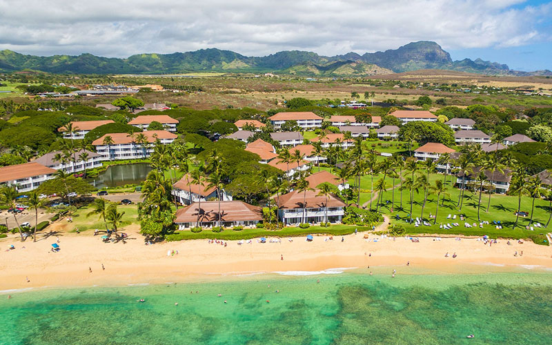 Drone photo of Kiahuna Plantation Resort